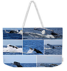 Whale Action Weekender Tote Bag
