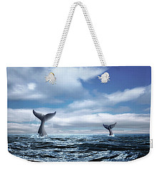 Whale Of A Tail Weekender Tote Bag by Tom Mc Nemar
