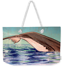 Whale Tail    Pastel   Sold Weekender Tote Bag by Antonia Citrino