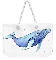 Whale Watercolor Humpback Weekender Tote Bag