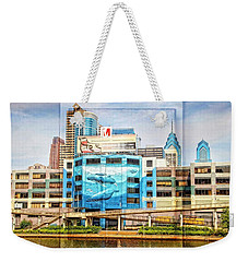 Whales In The City Weekender Tote Bag