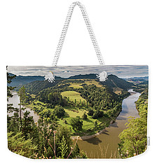 Weekender Tote Bag featuring the photograph Whanganui River Bend by Gary Eason
