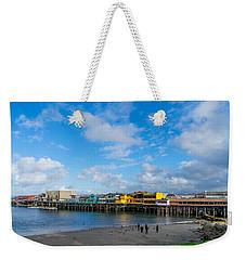 Wharf And Beach Weekender Tote Bag by Derek Dean