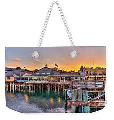 Wharf Dining Weekender Tote Bag by Derek Dean