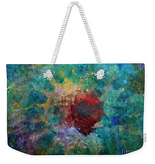 Weekender Tote Bag featuring the digital art What A Bee Sees by Claire Bull