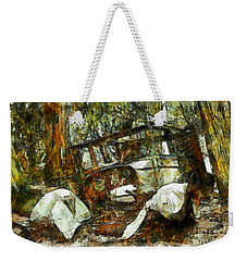 Weekender Tote Bag featuring the photograph What A Ride by Claire Bull