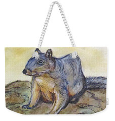 What Are You Looking At? Weekender Tote Bag by Clyde J Kell