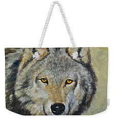 Weekender Tote Bag featuring the painting Heres Lookn At You..kid....kid....kid by Cliff Spohn