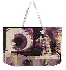 What Does The Eye See Weekender Tote Bag by Cathy Anderson