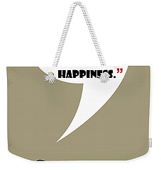 What Is Happiness - Mad Men Poster Don Draper Quote Weekender Tote Bag