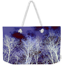 Weekender Tote Bag featuring the photograph What Lies Above by Shana Rowe Jackson