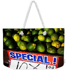 Weekender Tote Bag featuring the photograph What Lime Shortage? #dontbelievethehype by Mr Photojimsf