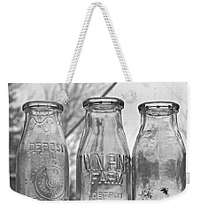 What The Milk Man Left, Bw Weekender Tote Bag by Sandra Church