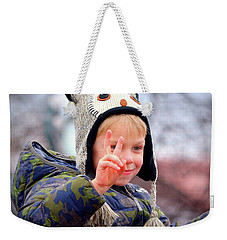 Weekender Tote Bag featuring the photograph What The World Needs Now by Barbara Dudley