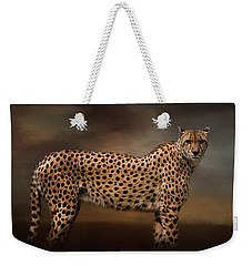 What You Imagine - Cheetah Art Weekender Tote Bag by Jordan Blackstone