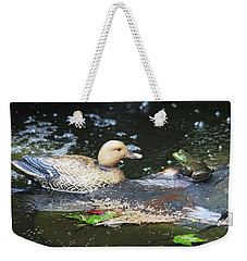 What's Up Duck? Weekender Tote Bag by Trina Ansel