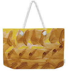 Weekender Tote Bag featuring the painting Wheatfields  by Don Koester