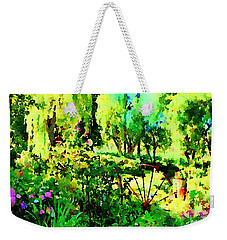 Weekender Tote Bag featuring the painting Wheel Garden by Angela Treat Lyon
