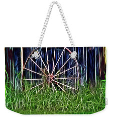 Weekender Tote Bag featuring the photograph Wheel Of Fortune by EricaMaxine  Price