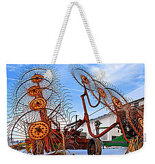 Wheel Rake Upside Down 2 Weekender Tote Bag
