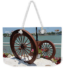 Wheels By The Water Weekender Tote Bag