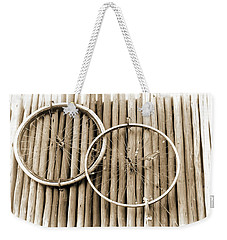 Wheels On Bamboo Weekender Tote Bag