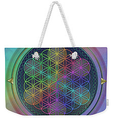 Weekender Tote Bag featuring the digital art Wheels Within Wheels by Vincent Autenrieb