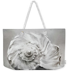 Weekender Tote Bag featuring the photograph Whelk In Black And White by Benanne Stiens