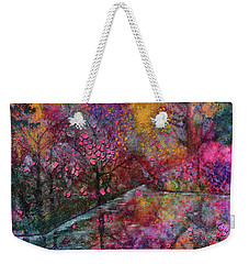 When Cherry Blossoms Fall Weekender Tote Bag by Donna Blackhall