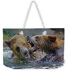 When Grizzlies Play Weekender Tote Bag