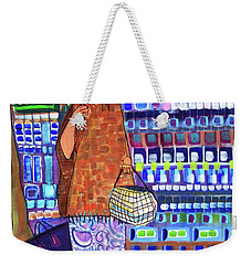 Weekender Tote Bag featuring the painting When I Was Cool by Donna Howard
