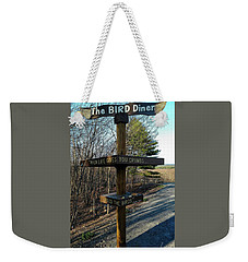 Weekender Tote Bag featuring the photograph When Life Gives You Crumbs by Bruce Carpenter