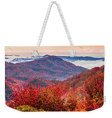 Weekender Tote Bag featuring the photograph When Mountains Sing by Karen Wiles