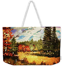 When Nature Exploits Her Colors Weekender Tote Bag