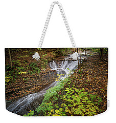 Weekender Tote Bag featuring the photograph When The Leaves Fall by Dale Kincaid