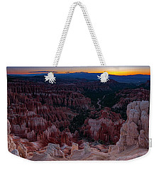 Weekender Tote Bag featuring the photograph When The Light Was Born by Edgars Erglis