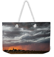 When Trouble Rises.....  Weekender Tote Bag by Shirley Heier