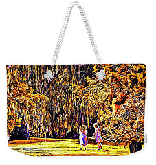 Weekender Tote Bag featuring the photograph When We Were Young... by Barbara Dudley