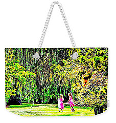 Weekender Tote Bag featuring the photograph When We Were Young II by Barbara Dudley