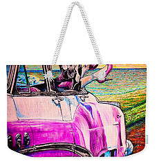 Weekender Tote Bag featuring the painting When We Were Young by Viktor Lazarev