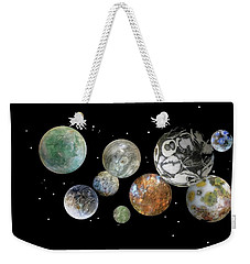 Weekender Tote Bag featuring the photograph When Worlds Collide by Tony Murray