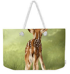 Weekender Tote Bag featuring the painting Where Is My Mom? by Veronica Minozzi