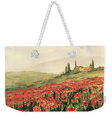 Where Poppies Grow Weekender Tote Bag