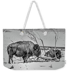 Where The Buffalo Rest Weekender Tote Bag