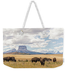 Where The Buffalo Roam Weekender Tote Bag by Alex Lapidus