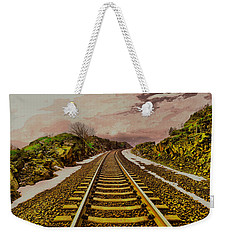 Weekender Tote Bag featuring the photograph Where The Track Bends by Jeff Swan