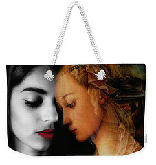 Weekender Tote Bag featuring the digital art Where The Wild Roses Grow  by Paul Lovering
