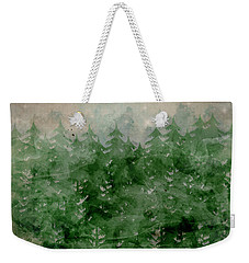 Weekender Tote Bag featuring the painting Where Wild Stars Fall  by Bri B