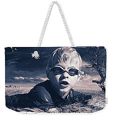 Weekender Tote Bag featuring the digital art Where Will He Swim Tomorrow by Chris Armytage
