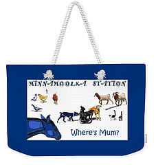 Where's Mum Weekender Tote Bag
